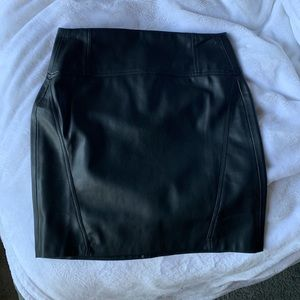 Bershka Faux Leather mini pencil skirt